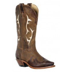 Boulet 9614 Ladies Virginia Mesquite/Gerico Brown Snip Toe Boots