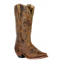 Boulet 9616 Ladies HillBilly Golden/Culatte Lucertola Brown Snip Toe Boots