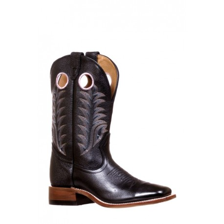 Boulet 7744 Challenger Sporty Black Wide Square Toe Boots