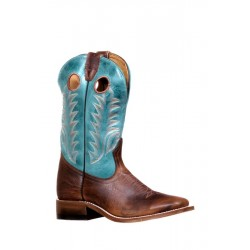 Boulet 7745 Challenger Damiana Moka/West Turqueza Wide Square Toe Boots