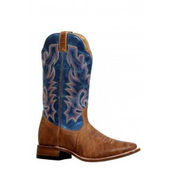 Boulet 8258 Old Town Yellow/Lava Electric Blue Wide Square Toe Boots