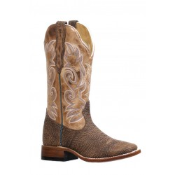 Boulet 8302 Bullhide Dodge City/Dublin Taupe Wide Square Toe Boots