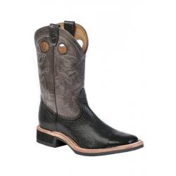 Boulet 8309 Black Taurus/Organza Grey Wide Square Toe Boots