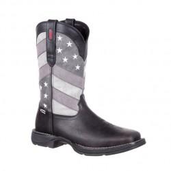 Men's Rebel by Durango Faded Black/Grey Flag Western Boots