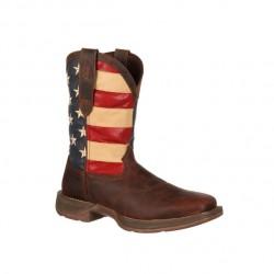 Men's Rebel by Durango Brown/Union Flag Boots
