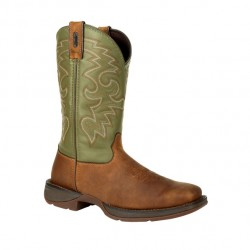 Men's Rebel by Durango Coffee/Cactus Green Western Boots