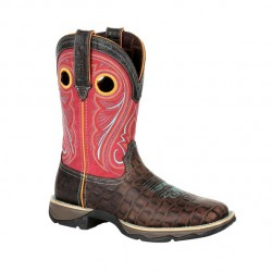 Lady Rebel by Durango Gator Emboss/Red Boots