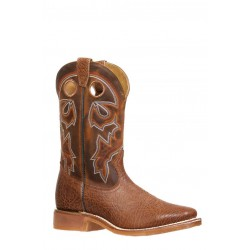 Boulet 8308 Rough Rider Ambergold Wide Square Toe Boots
