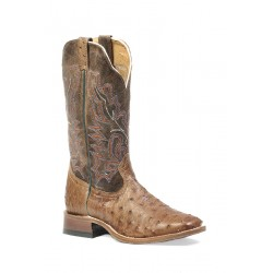 Mad Dog Ranger Ostrich Exotic wide square toe boot 1503 by Boulet
