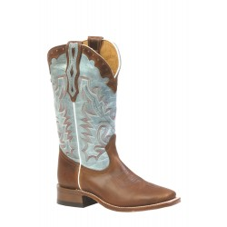 "Boulet Ladies 13"" Damiana Moka Wide square toe boot 3097"