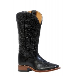 "Boulet Ladies 13"" Dankan Black Wide Square Toe Boot 4311"