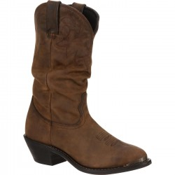DURANGO RD542 WOMEN'S DISTRESSED TAN SLOUCH WESTERN BOOT