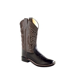 OLD WEST Youth- Ultra-Flex Broad Square Toe Boots BSY1856
