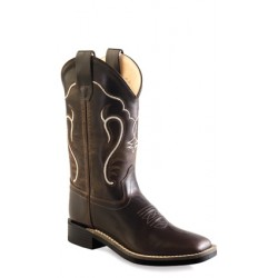 Old West - Ultra-Flex Broad Square Toe Boots-Childrens -BSC1887