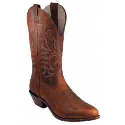 Boulet Mens Laid Back Tan Spice Medium Cowboy Toe Boot 6010