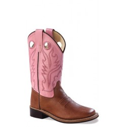 Old West BSY1839G Youth Broad Square Toe Boots
