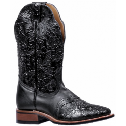Dankan Black Torino Calf Wide Square Toe Boot 5167