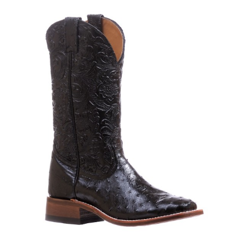 Boulet Ladies Ostrich Wide Square Toe Boot 5527
