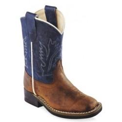 Old West BSI-1884 Toddler Blue Shaft Western Boot – Broad Square Toe